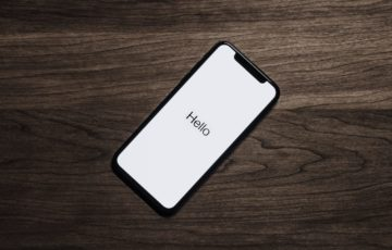 iPhoneのHello画面