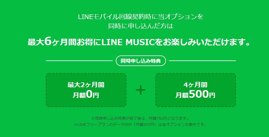 LINE MUSICオプション オ