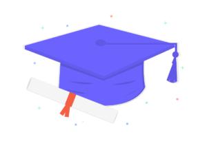 大学生の帽子