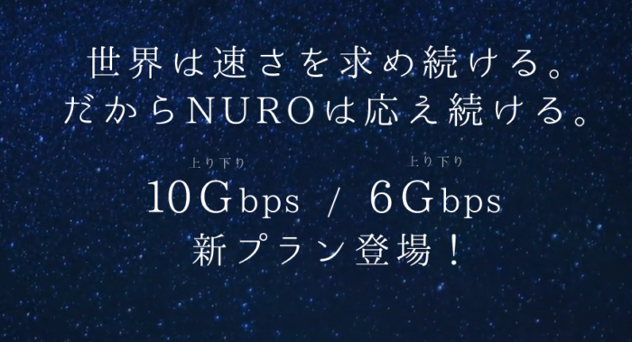 NURO光10Gbps・6Gbps