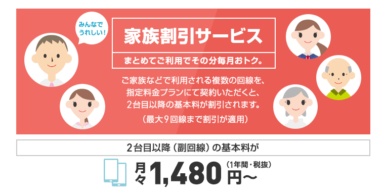 Y mobileの家族割引