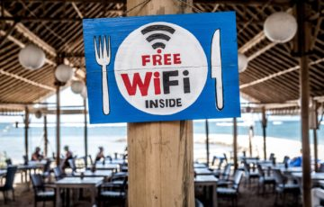 Wi-Fiの看板