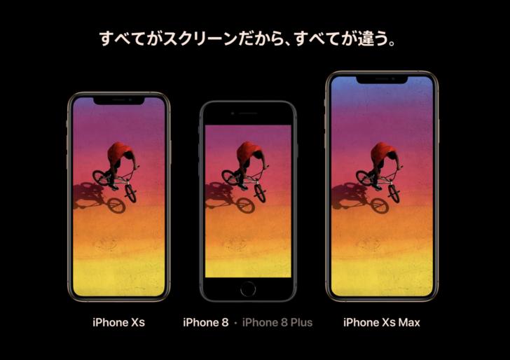 iPhoneXSとXS Max