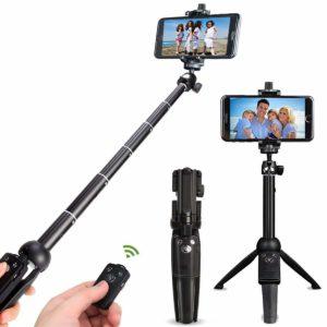 自撮り棒 セルカ棒 Bluetoothリモコン 三脚一脚兼用