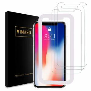 Nimaso iPhoneX/iPhoneXs 用 強化ガラス液晶保護フィルム