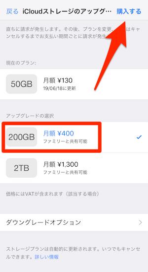 200GB購入